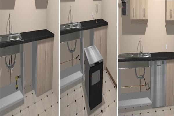 راه اندازی و نصب ماشین ظرفشویی