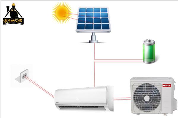 نصب کولر گازی خورشیدی