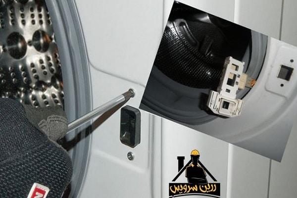 قفل شدن درب ماشین لباسشویی LG